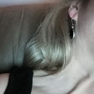 Jewelry - Black Earrings with shimmery outer details.
